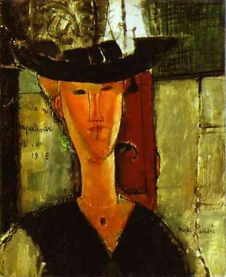Amedeo Modigliani. Madam Pompadour (Portrait  of Beatrice Hastings).
