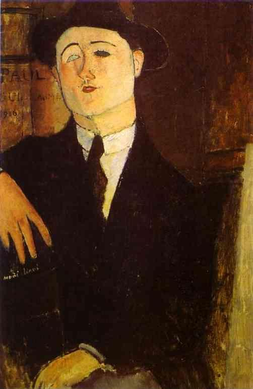 Amedeo Modigliani. Portrait of the Art Dealer  Paul Guillaume.