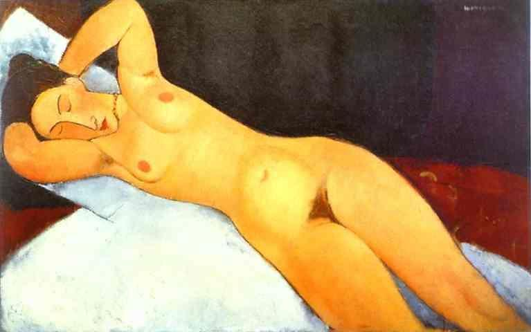 Amedeo Modigliani. Nude with Necklace.