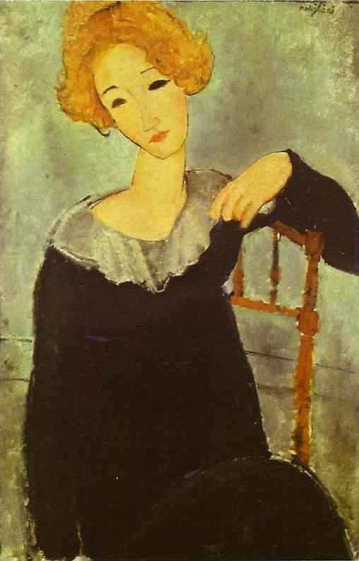 Amedeo Modigliani. Woman with Read Hair.