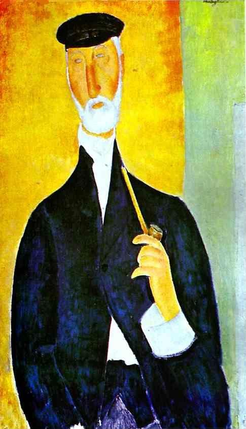 Amedeo Modigliani. Man with Pipe (The Notary  of Nice).