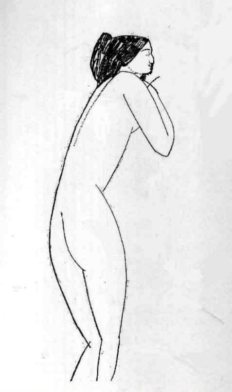 Amedeo Modigliani. Nude (Anna Akhmatova).