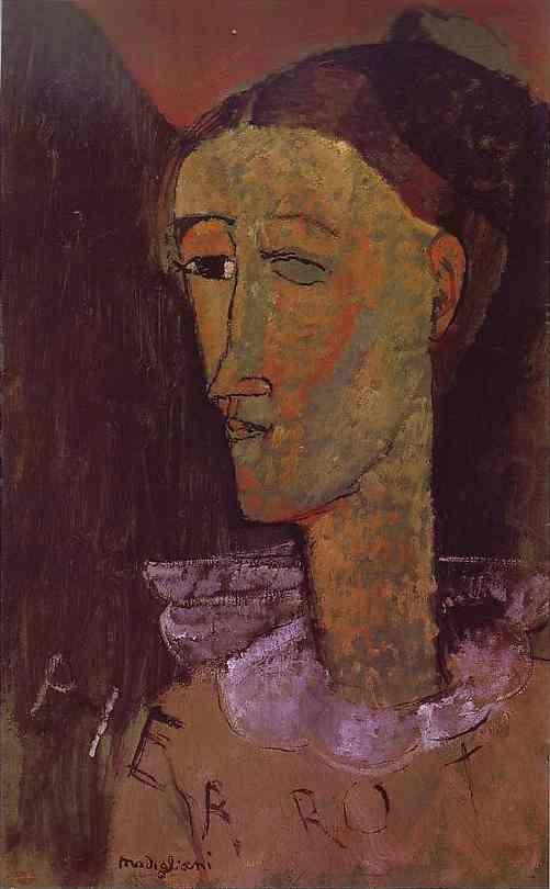 Amedeo Modigliani. Pierrot.