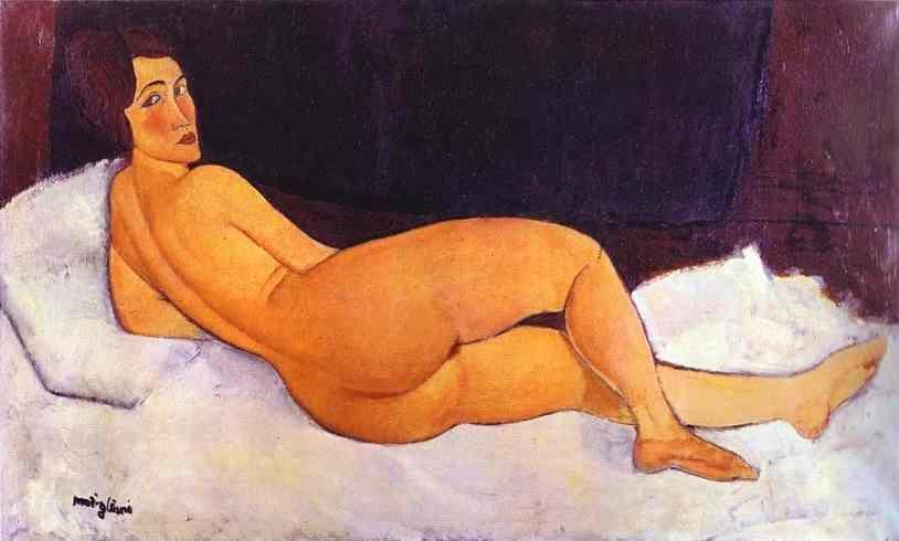 Amedeo Modigliani. Nude Looking over Her  Right Shoulder.