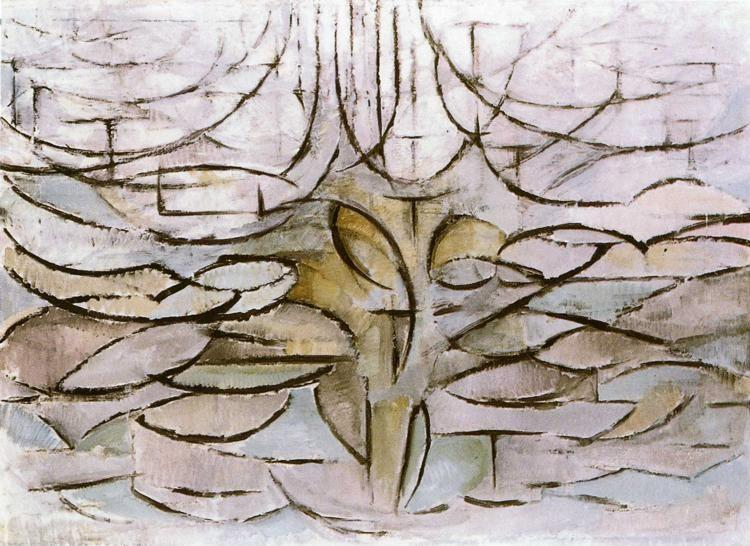 mondrian_apple_tree_in_flower | The original image was ...