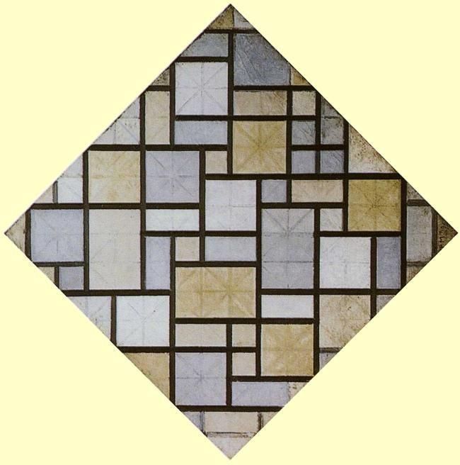 Piet Mondrian. Composition: Light Color Planes  with Grey Lines.