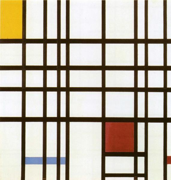 Piet Mondrian. Composition with Red, Yellow  and Blue / Compositie met rood, geel en blauw.