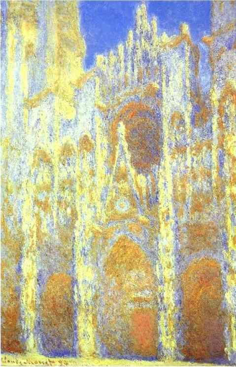 Claude Monet. The Rouen Cathedral at Twilight.