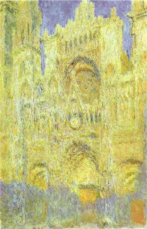 Claude Monet. The Rouen Cathedral in the Evening.