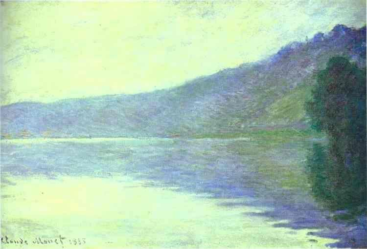 Claude Monet. The Seine at Port-Villez. The Harmony in Blue.