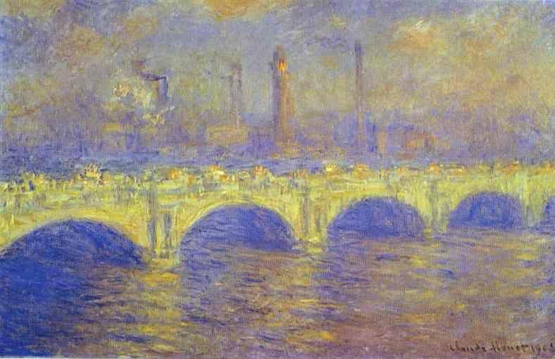 Claude Monet. The Waterloo Bridge. The Fog.