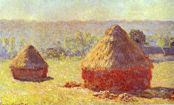 Claude Monet. Haystack. End of the Summer. Morning.