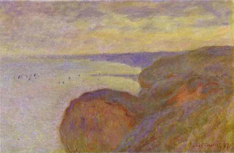Claude Monet. Steep Banks near Dieppe.