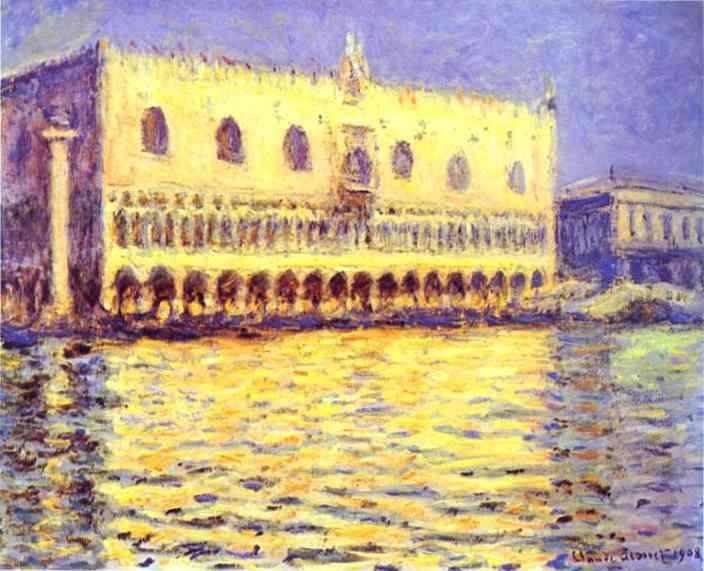 Claude Monet. Venice. The Doge Palace.