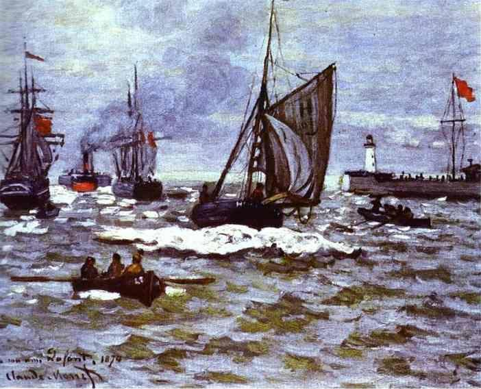Claude Monet. The Entrance to the Port of Honfleur.