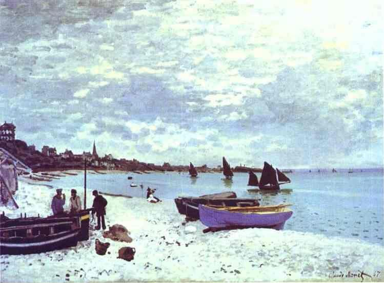Claude Monet. The Beach at Sainte-Adresse.