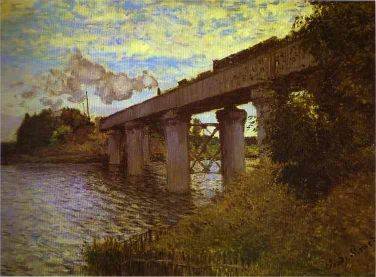 Claude Monet. The Railway Bridge at Argenteuil.