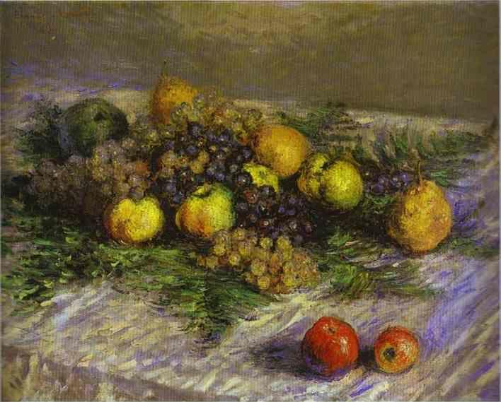 Claude Monet. Still Life with Pears and Grapes.