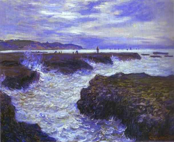 Claude Monet. The Rocks near Pourville at Ebb Tide.