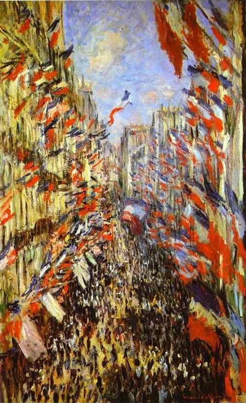 Claude Monet. Rue Montorgueil, Paris, Festival of June 30, 1878.