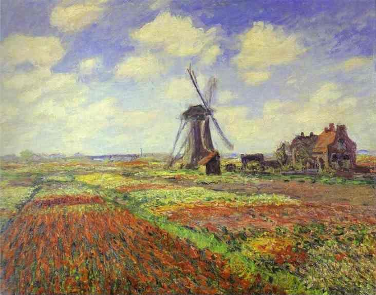 Claude Monet. Tulip Fields in Holland.