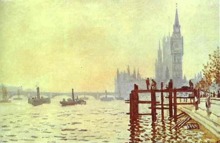 Claude Monet. The Thames at Westminster (Westminster Bridge).