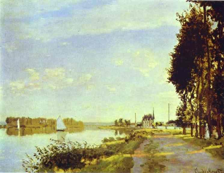 Claude Monet. The Riverside Path at Argenteuil.