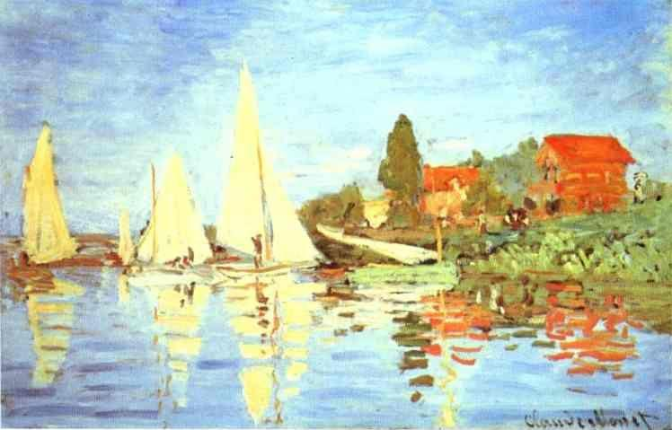 Claude Monet. Regatta at Argenteuil.