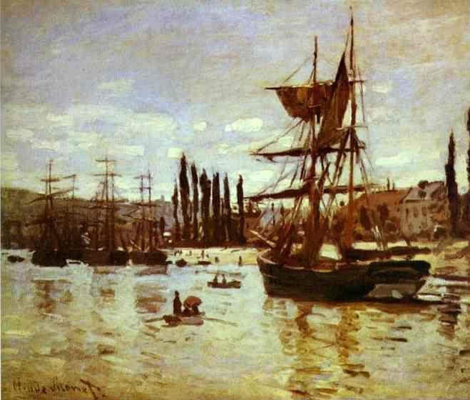 Claude Monet. Ships at Rouen.