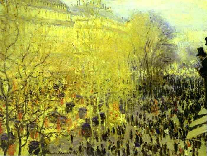 Claude Monet. The Boulevard des Capucines.