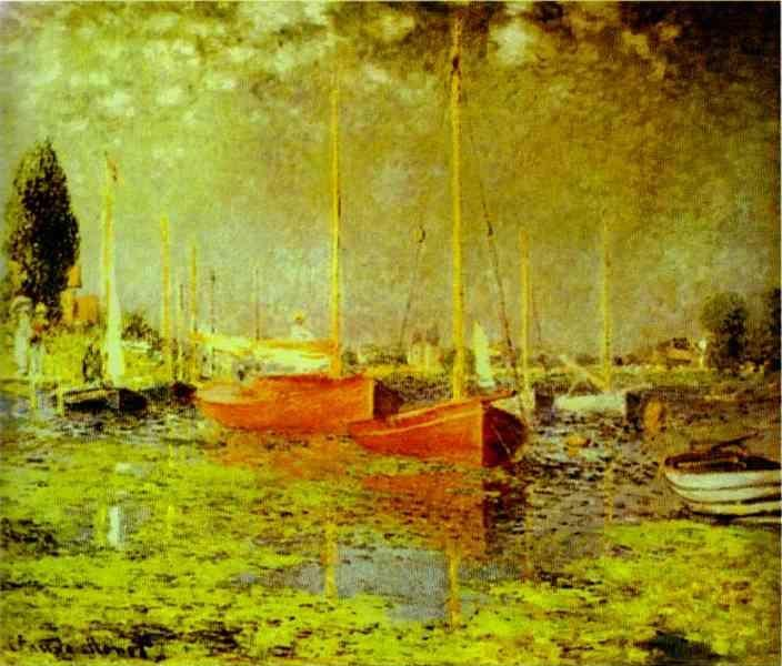 Claude Monet. Red Boats. Argenteuil.