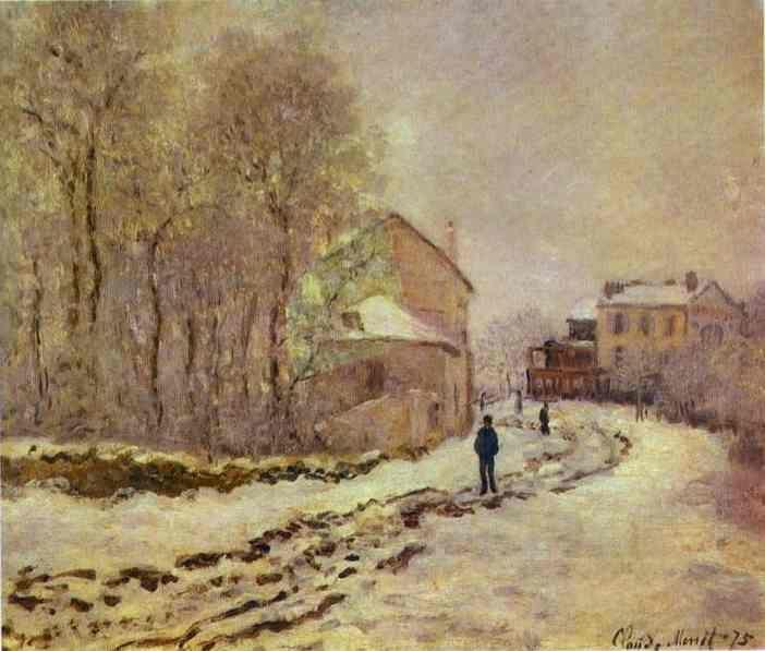 Claude Monet. Snow at Argenteuil.