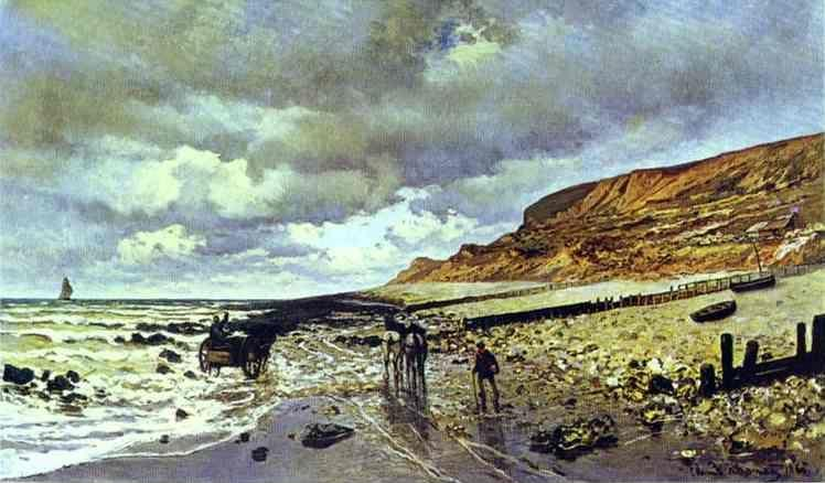 Claude Monet. The Cape de la Hève at Low Tide.