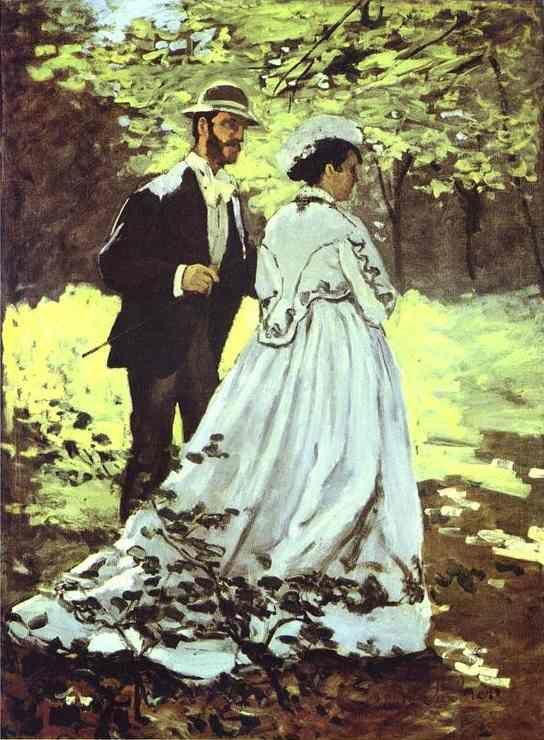 Claude Monet. The Walkers (Bazille and Camille).