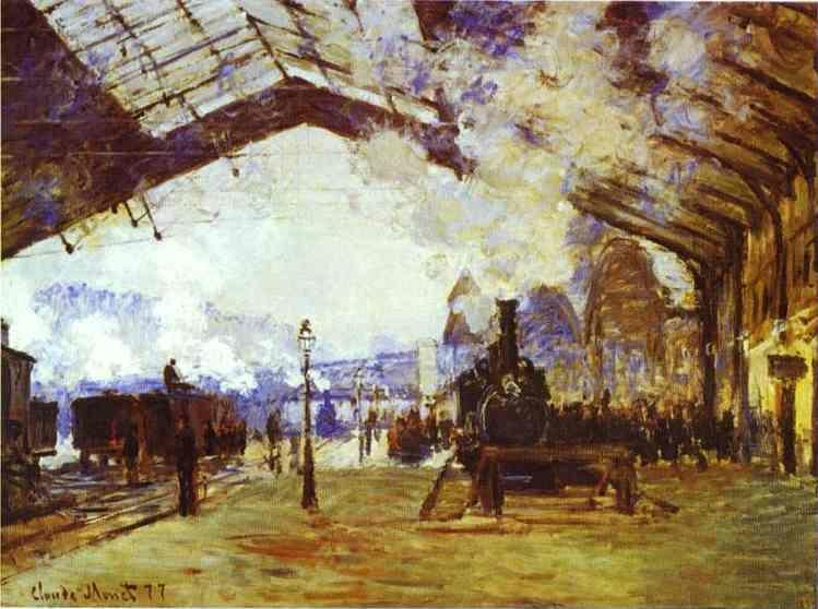 Claude Monet. Gare Saint Lazare: the Train from Normandy.