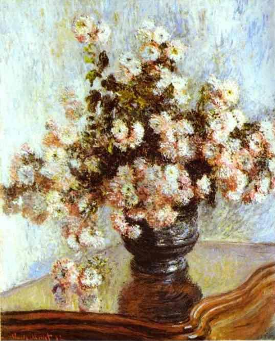 Claude Monet. Vase with Flowers.
