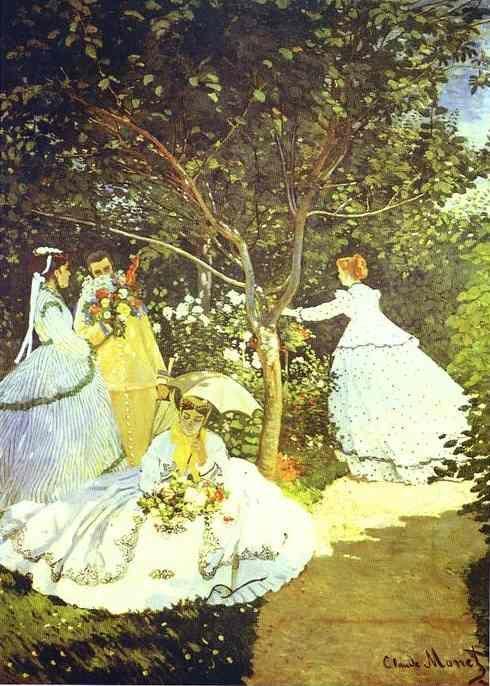 Claude Monet Women In The Garden