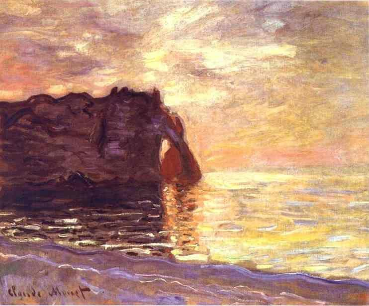 Claude Monet. Etretat. The End of the Day.