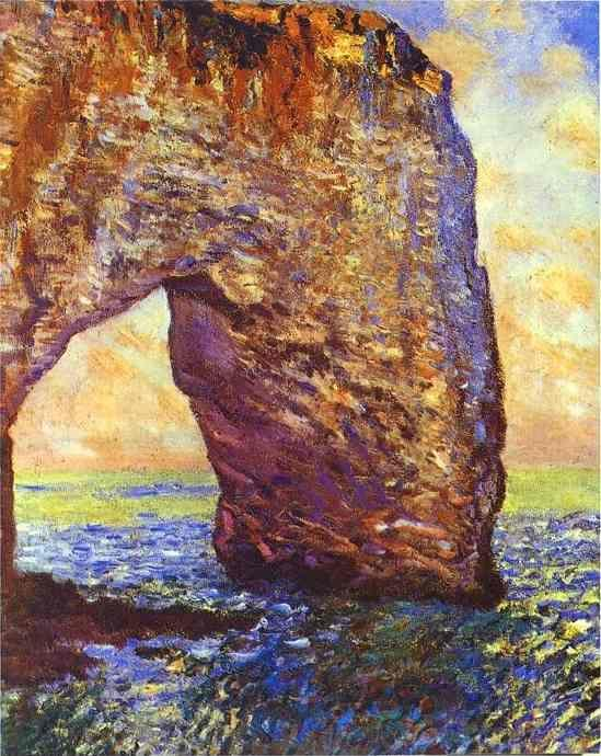 Claude Monet. The Mannerportre near Etretat.