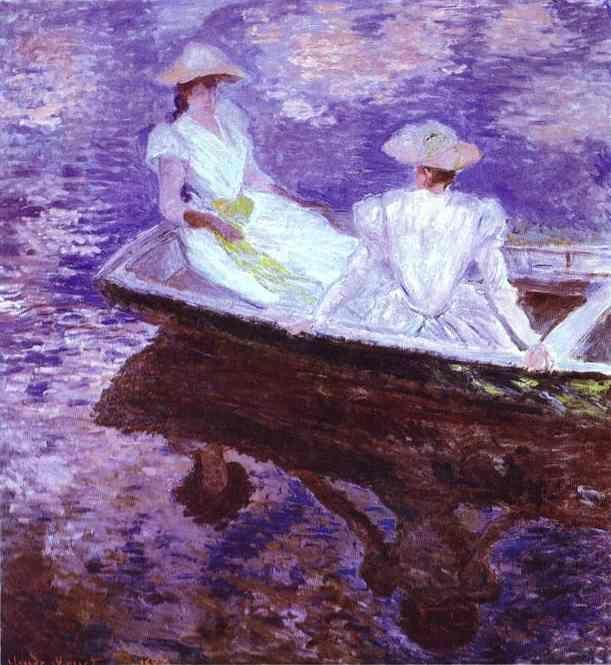 Claude Monet. Young Girls in a Boat.