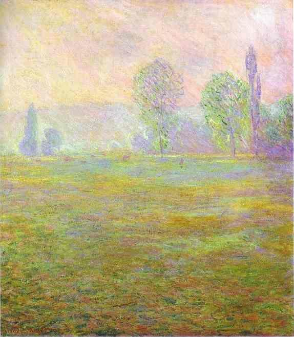 Claude Monet. Meadows at Giverny.