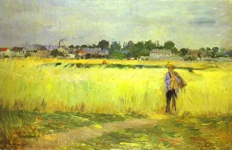 Berthe Morisot. In the Wheatfields at Gennevilliers.