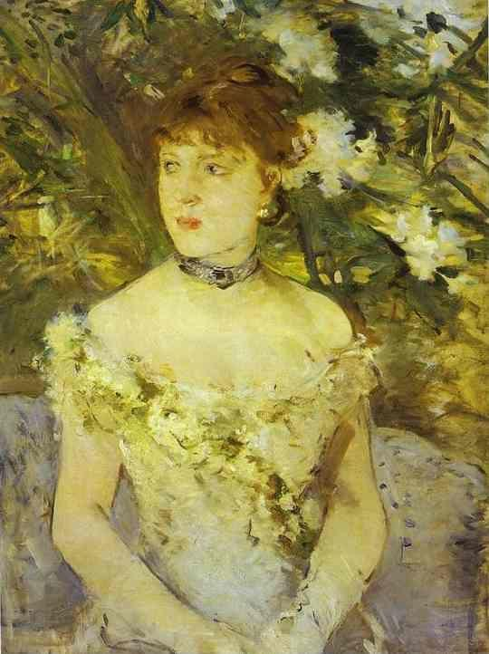 Berthe Morisot. Young Woman in an Evening  Dress.