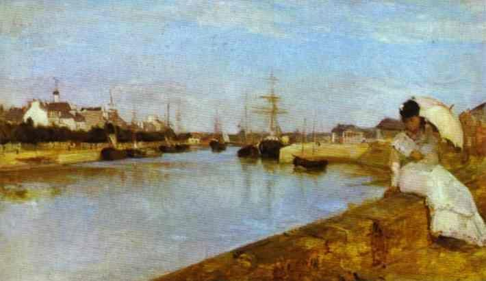 Berthe Morisot. The Harbor at Lorient.