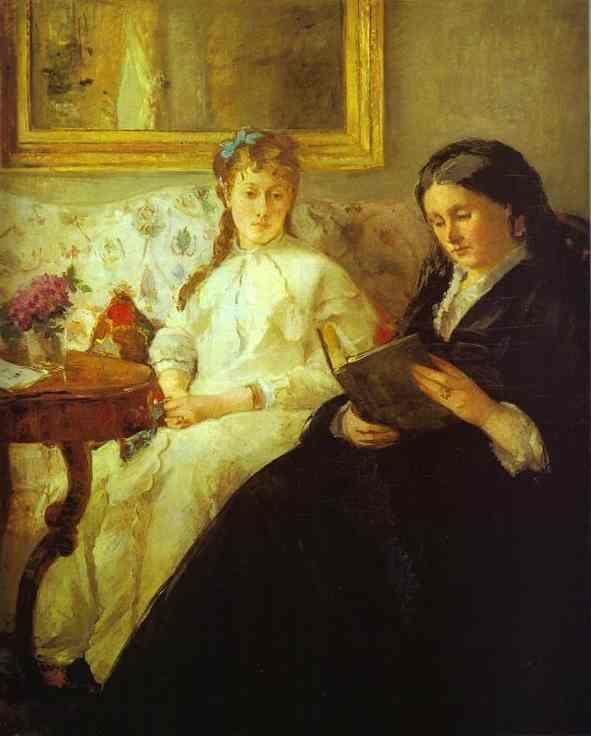 Berthe Morisot. The Mother and Sister of  the Artist (Reading).