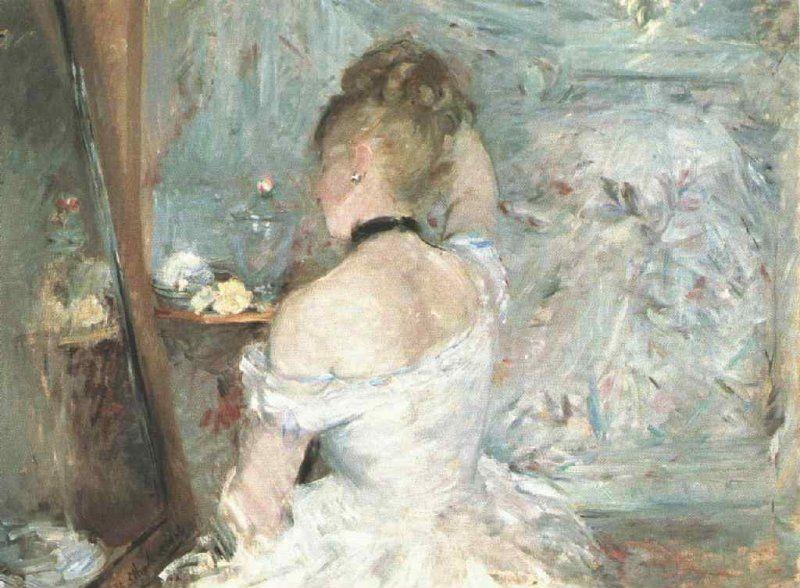 Berthe Morisot. Young Woman at her Toilette, from the Back.