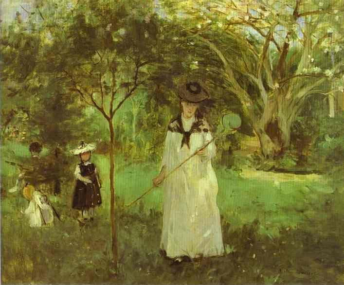 Berthe Morisot Chasing Butterflies
