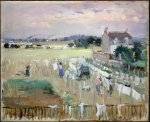 Berthe Morisot. Hanging the Laundry out to Dry.