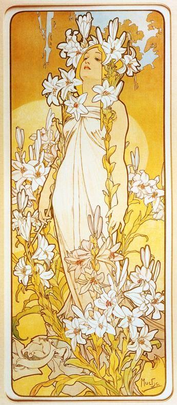 Alphonse Mucha. Lily. From The Flowers Series.