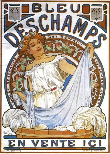Alphonse Mucha. Bleu Deschamps.